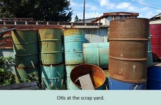01 Otis scrap yard
